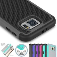 Wholesale S3 Mini Rubber Cases - Shockproof 2 in 1 Rugged Mesh Rubber Case Football Skin Silicone Case Cover For Samsung Note Edge Avant S5 Sport Note 4 S5 mini Note 3 S3 S5