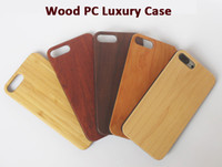 Wholesale natural handmade wooden wood case online - Natural Handmade Wooden PC Phone Case For Iphone S PLUS Custom Wood Cover Mobile Phone Shell Bamboo Back Housing For Apple