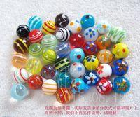 Wholesale Glass Marble Balls - Free shipping 40pcs lot 16mm Glass marbles jump chess pieces Vase aquarium decoration ball