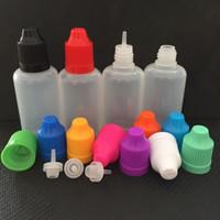 Wholesale Bottle Caps Wholesale Prices - Factory Price 50pcs PE 50ml Plastic Dropper Bottle 50ml Dropper Bottles With Colorful Childproof Cap Empty E liquid Bottle