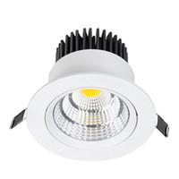lâmpada de refletor cob venda por atacado-Corpo branco Recesso COB Downlight 5 W 7 W 10 W 15 W 20 W 24 W Dimmable levou lâmpadas de teto celular refletor LED Spot luzes