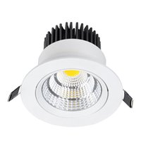Wholesale Aluminum Led Reflector - White Body Recessed COB Downlight 5W 7W 10W 15W 20W 24W Dimmable led ceiling Lamps Cellular reflector LED Spot lights