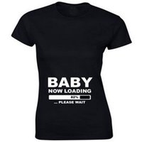 Wholesale Funny Pregnant Tee Shirts - Wholesale- Funny Loose T shirt Women Pregnant Maternity BABY NOW LOADING Letter print Tee Shirt Women Casual Cotton T-Shirt Tops T-F11506