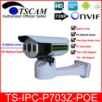 Wholesale micro wired camera audio for sale - TSCAM new SP P703Z POE mm lens IP Camera Outdoor ONVIF HD P with POE TF Micro SD Card Slot Two Way Audio Line P2P