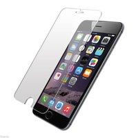filme anti choque venda por atacado-Protetor de tela, anti-choque de vidro temperado filme protetor de tela case 2.5d 0.26mm para iphone 7