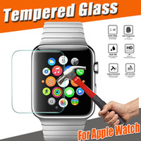 Wholesale Premium Watches - Tempered Glass 9H Proof Premium Explosion Guard Protective Film Screen Protector for Apple Watch iWatch Series 1 2 3 38mm 42mm Smart Sport