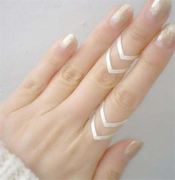 Wholesale China Wife - Hot seeling Fashion Adjustable double V, Triangle ring. Midi, Finger, thumb 18KGold Silver plated for wife girlfriend birthday gift