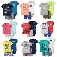 Wholesale Boys 3piece - New 2017,baby boy summer clothes set ,bebes newborn, 3piece of set baby boy clothing ,infant boyt clothes