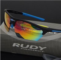 Wholesale Rudy Lens - Luxury Persol Fashion Rudy Project Sport Sunglasses Polarized lens Brand Glasses For Women Men TR90 frame Interchangeable Cycling Eyewear