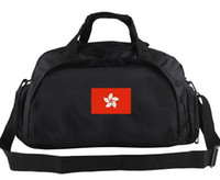 Wholesale Hong Kong Boys - Hong Kong duffel bag Hongkong team tote Flower flag backpack Football luggage Sport shoulder duffle Outdoor sling pack