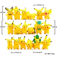 Wholesale pokemon gift set - Poke Pikachu Version Mini Figure Toys PVC Doll Collective Toys Best Gifts For Kids 18pcs set 3.5-5.7cm fast shipping by DHL