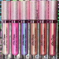 Wholesale Eyeshadow Crystal - Newest unicorn gilded crystal non-stick cup lip gloss unicorn 6 Color Eyeshadow lip gloss lip gloss