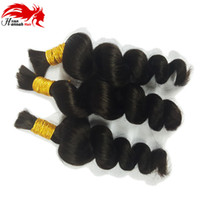 Wholesale good braiding hair resale online - 2017 Hannah product Hot Micro mini Braiding Bulk Very Good Quality bundles gram Raw Human Hair Bulk Material Braid