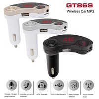 GT86S Bluetooth Car MP3 Player Kit Stereo Auto Radio Mãos livres FM Transmissor MP3 USB SD MMC + 3.5mm AUX CAU_218