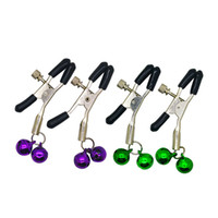Wholesale Male Nipple Bells - Sensual Erotic Ring Bell Fetish Nipple Clasps for Women Erotic Game Sex Toys, Adult Sex Products 17402
