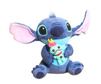 Wholesale Stitch Dolls For Sales - 1pc 23cm Hot Sale Cute Cartoon Lilo and Stitch Plush Toy Soft Stuffed Animal Dolls Best Gift for Children Kids Toy