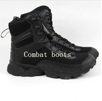 Wholesale Charm Hiking - New The latest Men's nylon mesh Military Tactical Boots Desert Combat Outdoor Army Hiking Travel Boots Leather Ankle Boots