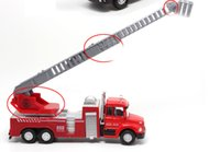 Wholesale Ladder Truck Model - A ladder truck toys alloy car model water gun fire truck acousto-optic back to the car at the airport