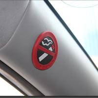 adesivo de corpo toyota venda por atacado-3 pçs / set 3D Car Body Rubber Sticker No Fumando Fumar Decalque Styling Para Mazda Lada Hyundai Citroen BMW VW FORD TOYOTA HONDA JEEP NOVA