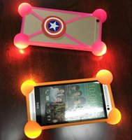 """Wholesale Led 3d Iphone Case - universal 3D cell phone silicone case led light up bumper luminous soft cases for iphone 7 plus samsung LG 3.5""""-5.5"""" phone"""