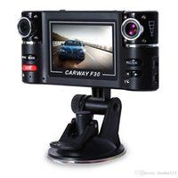 Wholesale Digital Video Record - Free shipping 2.7 inch Car DVR Dual Lens Rear view Digital Video Recorder Wide Angle Night Vision Motion Detection