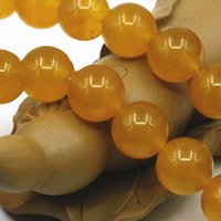 Wholesale Yellow Jade 8mm - 4mm 6mm 8mm 10mm 12mm Hot Yellow Jasper Girls Christmas Gifts Jade Stones Loose Beads Jewelry Making 15inch Crystal Wholesale