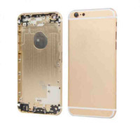 Wholesale Power Switch Cover - For iPhone 6 Metal battery Housing Door Case cover with sim tray Side Button Power Switch 4.7 Inch Color Gray Gold Sliver