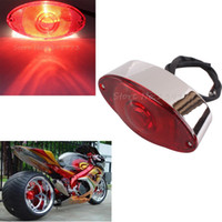 Wholesale Custom Universal Motorcycle Rear Brake Tail Light Red Lens W License Plate For Harley Chopper Davidson Honda Kawasaki Yamaha