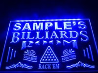 Wholesale Billiards Signs - DZ011b- Name Personalized Custom Billiards Pool Bar Room LED Neon Beer Sign