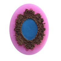 Wholesale Cheap Cake Fondant - Wholesale- Cheap Bronze Mirrors Silicone Molds Fondant Cake Mold ,Cake Decorating Tools, Soap Chocolate Mould for the Kitchen Baking