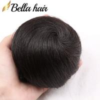 Wholesale Black Hair Extensions Buns - 100% Virgin Human Hair Bun Maker Hair Donut Chignon Extensions Hairpieces 1B Black Color Bellahair USA shipping