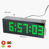 digital snooze function square led digital alarm clock large countdown timer with temperature calendar night light snooze electric ac powered led wall clock