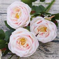 dekoratif gül tomurcukları toptan satış-YENİ Sahte Camellia 95 cm / 37,4
