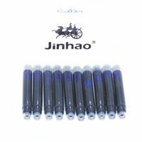 Wholesale Cartridges Fountain Pen Jinhao - Wholesale- JINHAO 10pcs Blue Ink Cartridge Refills Fountain Pen Brand assurance Universal Typ Other brands are also suitable
