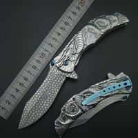 "Wholesale Engrave Tools - SILVER DRAGON Collection SPRING ASSISTED OPEN Folding Pocket Knife Cosplay Fantasy Knife Carving engraving outdoor tools 9"" FREE Shipping"