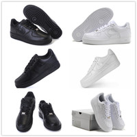 Wholesale Winter High Cut Running Shoes - 2017 New Force One 1 Dunk Men Women Running Shoes,Sports Skateboarding Forces Ones Shoes High Low Cut White Black Outdoor Trainers Sneakers