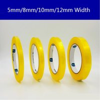 Wholesale Transparent Yellow Tape - Wholesale- 2016 5mm 8mm 10mm 12mm 15mm Width Sealing tape Narrow Transparent Adhesive Tape Random color(yellow,white) 2Pcs Lot