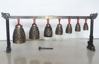 Black ornate art - Meditation Gong with Ornate Bell with Dragon Design Chinese Musical Instrument