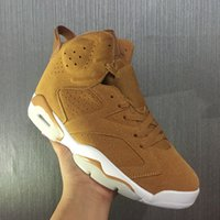 Wholesale Wheat Free - High quality Retro 6 Men Women Basketball Shoes wheat color black card blue 6s Sports Shoe sneakers US Size 5.5-13 Free Shipping