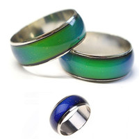 Wholesale Mood Ring Color Change - Newest Women Men Emotion Feeling Changing Color Mood Temperature Couple Ring Jewelry