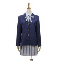 Wholesale Girls Blazers Skirts - Anime K-ON! Cosplay Hirasawa Yui Girls School Uniforms Halloween party Costumes (Blazer + Shirt + Skirt + Necktie)