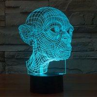 ingrosso lampada da tavolo 12v-Gulumu 3D Lamp Room Room Decorativo Night Light Cavo USB Smart Touch Button LED Desk Table Light Bambini Kiddie regalo Decorazione della casa