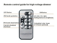Wholesale wireless remote control dimmer switch resale online - wireless IR Dimmer switch for V V led light DC12V V A with key wireless remote