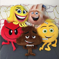 Wholesale Soft Toys For Kids - The Emoji Movie Plush Toys Soft Dolls Stuffed Animals Toys for Kids Poo Devil Children Xmas Gifts Kids Stuffed Toys CCA6329 120pcs