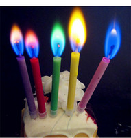 Paraffin Wax special birthday candles - High quality color flame birthday candles Romantic candlelight dinner special color flame candles