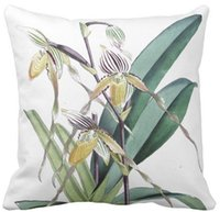 Throw Pillow Case, Vintage Botanical Tropical Orchid Blumen Blumen Square Sofa und Auto Kissen Cover,