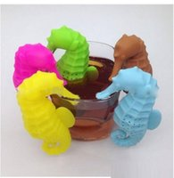Wholesale Horse Tea Set - Cute Sea Horse Shape Tea Infuser Multicolor Tea Strainer Loose Spice Flower Herbal Set Creative Hippocampus Tea Gift wn048