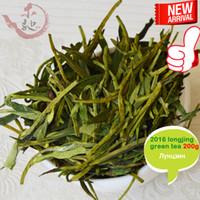Wholesale Green Lake - 【mcgretea】Good 2017 new handmade dragon well organic green tea, good quality Mingqian West Lake Longjing tea leaves 200g Gift Free shipping