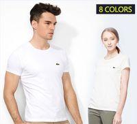Wholesale Tee Shirt Crocodile - Men's clothing brand Top quality Crocodile Embroidery Tees Short Sleeve T-shirt men t shirt Summer Cotton t-shirt Women Tops Causal t-shirts