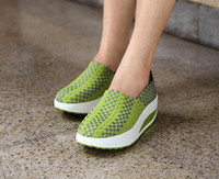 Wholesale Straw Wedges - 2017 summer hot style for women's shoes fashion breathable weave shoe sponge leisure shoes single shoes
